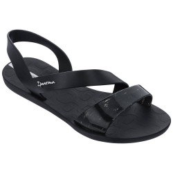 Sandalia Ipanema Vibe Black Splash Clear