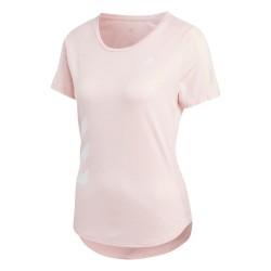 Camiseta Adidas Run It Tee Pink
