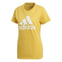 Camiseta Adidas Badge of Sport Yellow