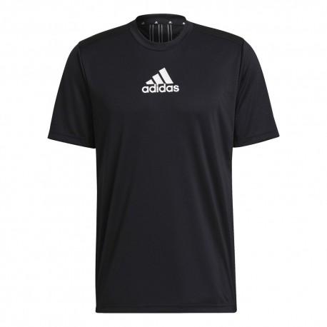 Camiseta Adidas Move Sport Negra 3 Bandas