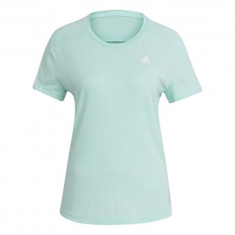 Camiseta Adidas Own The Run Soft Turquesa