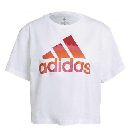 Camiseta Adidas Graphic Cropped Blanca