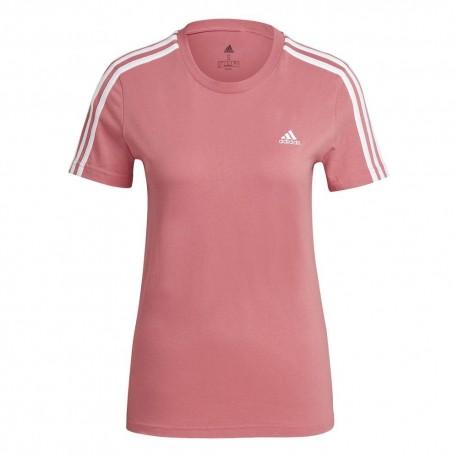 Camiseta Adidas Essentials Slim Rosa