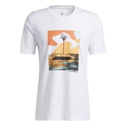 Camiseta Adidas Slept On Graphic Blanca