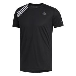 Camiseta Adidas Run it Tee 3 Stripe Black