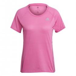 camiseta adidas transpirable rosa