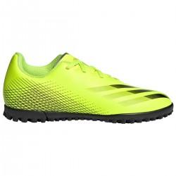 Adidas de Fútbol X Ghosted Multitacos  color Amarillo Flúor y negro