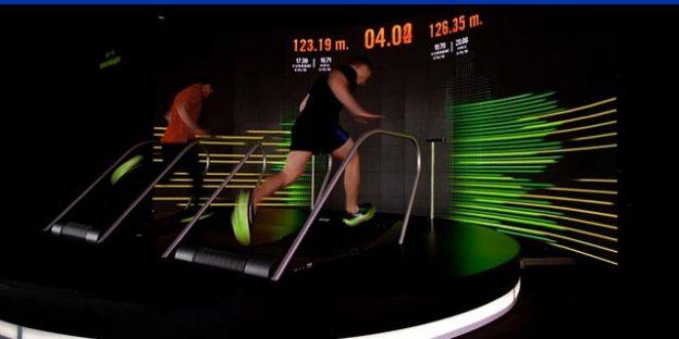 carrera en cinta de correr