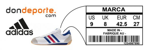 Guía de tallas de Adidas