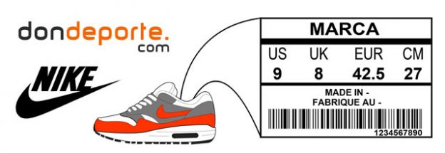 guía de tallas Nike