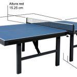 medida oficial mesa ping pong