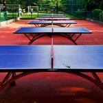 mesas de ping pong en un parque