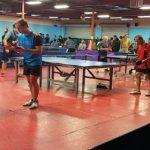 partido dobles de tenis de mesa