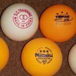 bolas de tenis de mesa