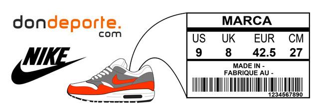 Equivalencia tallas Nike | Blog DONDEPORTE.COM