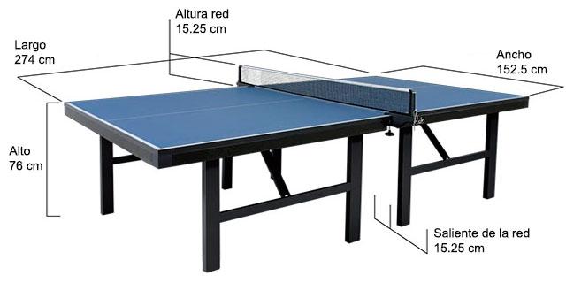 medidas de las mesas de ping pong blog dondeporte com
