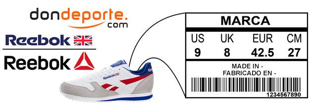 2d339c3e744 Guia de tallas zapatillas reebok