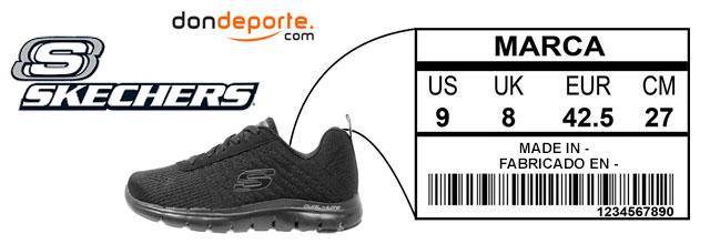 6189f70cf0ac4 Guia de tallas zapatillas Skechers