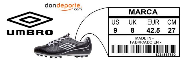 Guia de tallas zapatillas umbro 0e1dd799dbb92