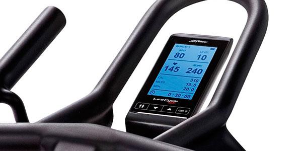 bicicleta indoor con consola electrónica